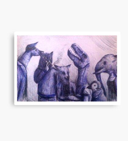 Anthro group Canvas Print