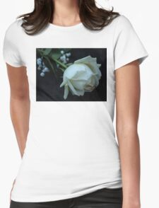 White Rose Womens Fitted T-Shirt