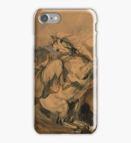 """Piotr Michałowski, """"An Encounter of the French Infantry with Arab Cavalry"""",  iPhone Case/Skin"""