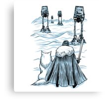 Snow Wars - Walkers Are Coming Canvas Print