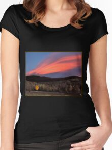 Maple Ablaze at Sunset Women's Fitted Scoop T-Shirt
