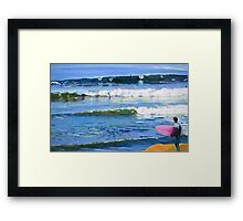 Surfing Picture San Diego California Framed Print