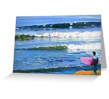 Surfing Picture San Diego California Greeting Card