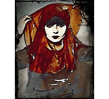 Gypsy Louise in Autumn Scarves Photographic Print