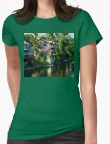 PORCELAIN ON DEERFIELD RIVER Womens Fitted T-Shirt
