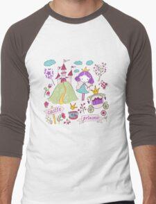 Fairy princess and her castle Men's Baseball ¾ T-Shirt