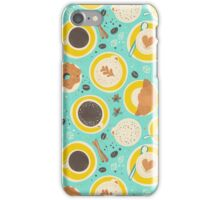 Coffee upper view seamless iPhone Case/Skin