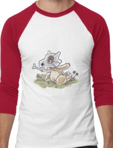 Drawlloween Cubone Men's Baseball ¾ T-Shirt