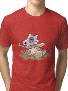 Drawlloween Cubone Tri-blend T-Shirt
