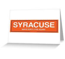 syracuse 2 Greeting Card
