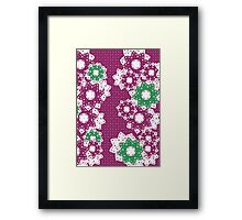 Polka Dot and Flowers Decoration Framed Print