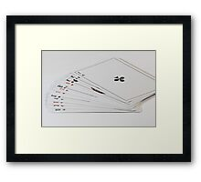 playing cards fanned out Framed Print