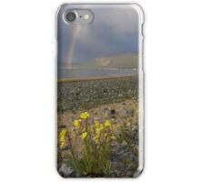 Waterspout and Double Rainbow - Lake Tahoe iPhone Case/Skin