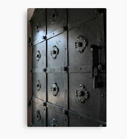 lock on fortress gate Canvas Print