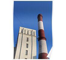 striped chimney power station Poster
