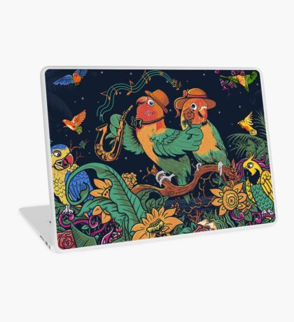 loving bird and friend Laptop Skin