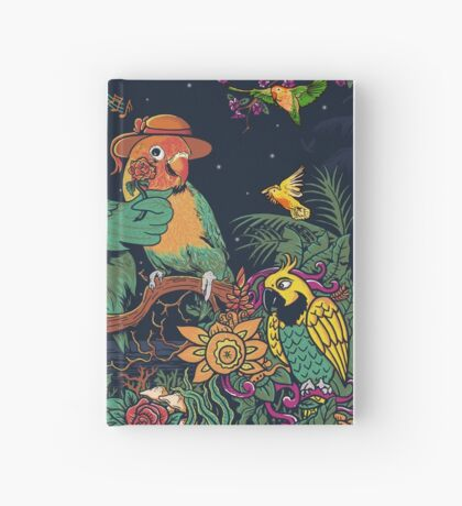 loving bird and friend Hardcover Journal