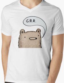 Growling Bear Mens V-Neck T-Shirt
