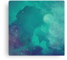 Night sky [watercolor] Canvas Print