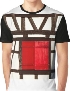 Classic alsacien timber-framing house, Andlau, France Graphic T-Shirt