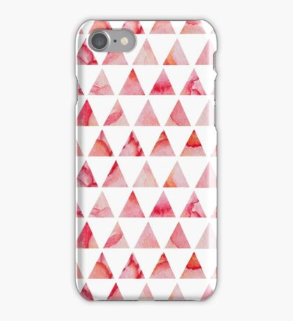 Watercolor triangles pattern iPhone Case/Skin