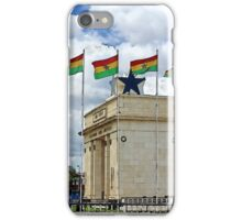 Ghana Flag and Black Star Gate of Independence iPhone Case/Skin