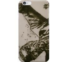 The Walking Dead - Zombie Ink Mono Print Design iPhone Case/Skin