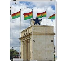 Ghana Flag and Black Star Gate of Independence iPad Case/Skin