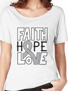 Faith Hope Love - Grey Ribbon Women's Relaxed Fit T-Shirt