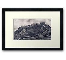 Rocky Mountain from Top of Cruz Loma Hill Quito Ecuador Framed Print