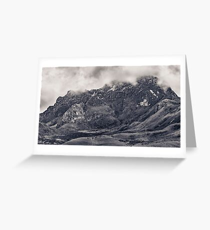 Rocky Mountain from Top of Cruz Loma Hill Quito Ecuador Greeting Card