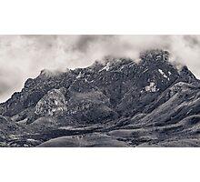Rocky Mountain from Top of Cruz Loma Hill Quito Ecuador Photographic Print