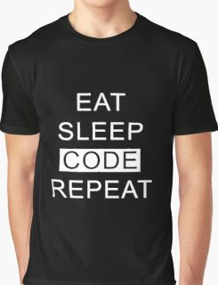 Eat Sleep Code Repeat Graphic T-Shirt