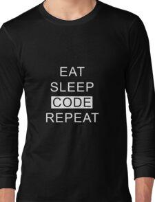 Eat Sleep Code Repeat Long Sleeve T-Shirt