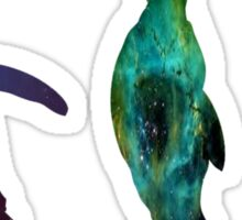 Penguin Galaxies Sticker