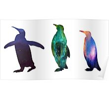 Penguin Galaxies Poster