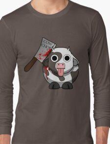Cow Chop Bloody Knife Long Sleeve T-Shirt
