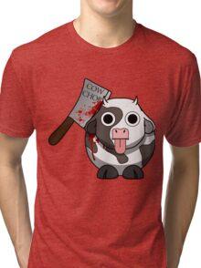 Cow Chop Bloody Knife Tri-blend T-Shirt