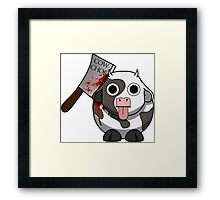 Cow Chop Bloody Knife Framed Print