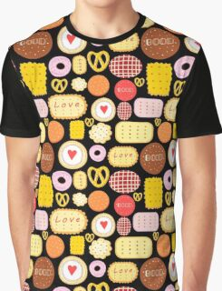 Seamless graphic pattern with delicious cookies Graphic T-Shirt