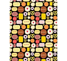 Seamless graphic pattern with delicious cookies Photographic Print