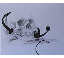 Gamer Skull Photographic Print