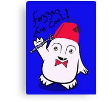 Fezzes are Cool Dr Who Adipose Canvas Print