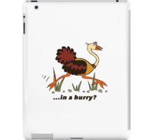 Ostrich, in a Hurry! iPad Case/Skin