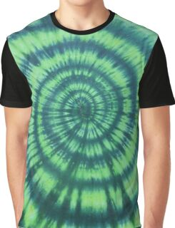 Green Tie Dye Graphic T-Shirt