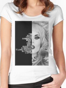 Katya Text Portrait Women's Fitted Scoop T-Shirt