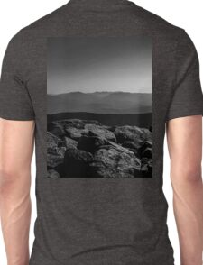 Black and White Mountains Unisex T-Shirt