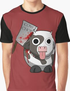 Cow Chop Bloody Knife BG Graphic T-Shirt