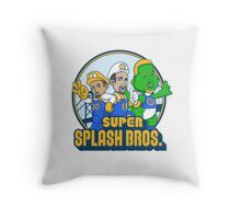 Super Splash Bros Vol 2 Throw Pillow