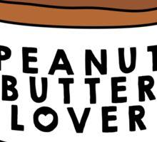 Peanut Butter Lover Sticker